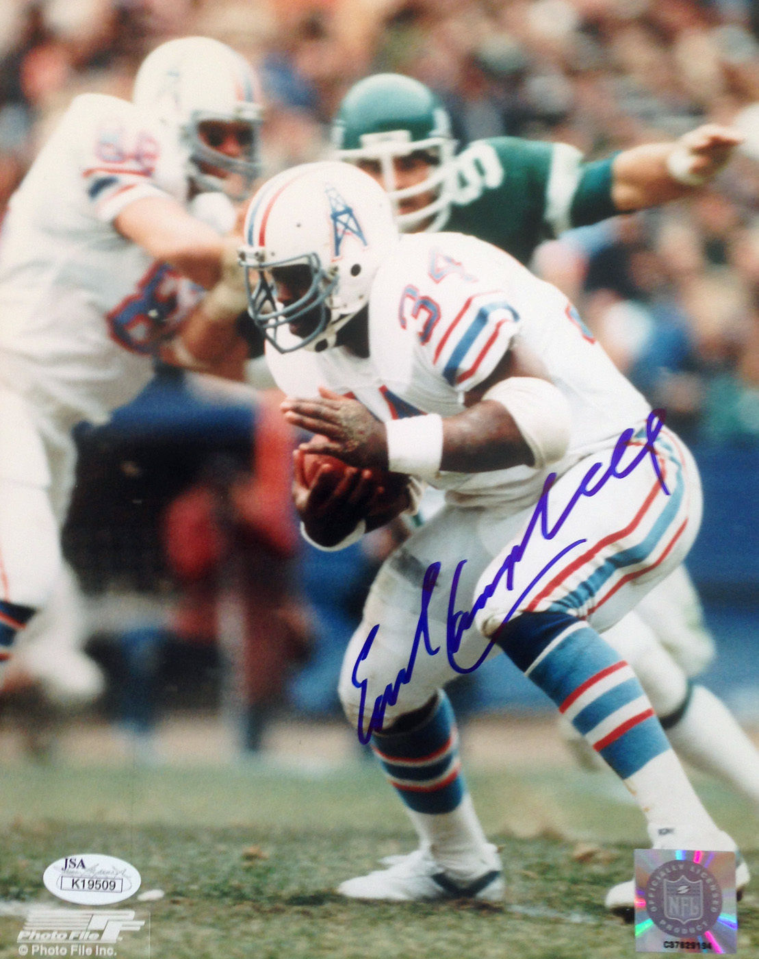 size 40 0b4f3 81ff1 Earl Campbell signed Houston Oilers photo